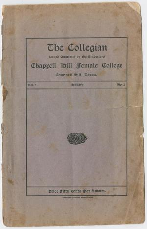 Primary view of object titled 'The Collegian, Volume 1, Number 2, January 1904'.