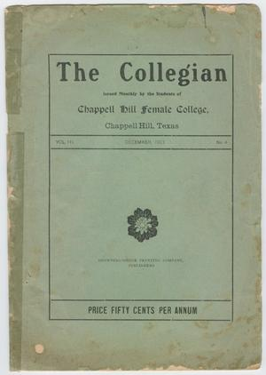 Primary view of object titled 'The Collegian, Volume 3, Number 4, December 1903'.
