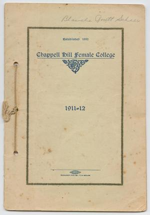 Primary view of object titled 'Catalog of Chappell Hill Female College, 1911'.