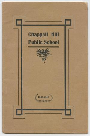 Primary view of object titled 'Catalog of Chappell Hill Public School, 1909-1910'.