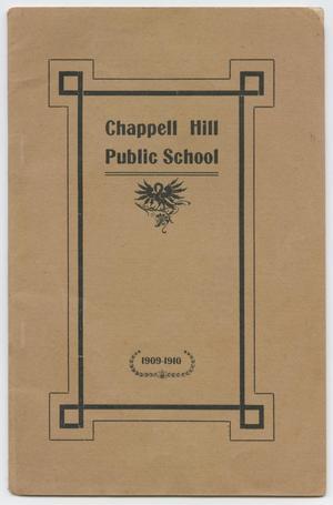 Catalog of Chappell Hill Public School, 1909-1910
