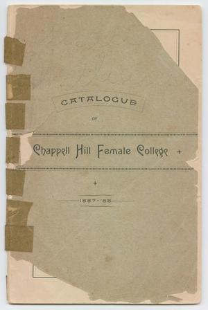 Catalog of Chappell Hill Female College, 1888
