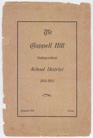 Primary view of object titled 'Catalog of Chappell Hill Independent School District, 1912-1913'.