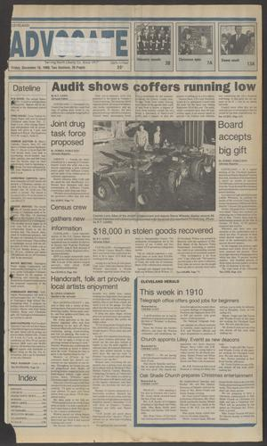 Primary view of object titled 'Cleveland Advocate (Cleveland, Tex.), Vol. 69, No. 48, Ed. 1 Friday, December 16, 1988'.
