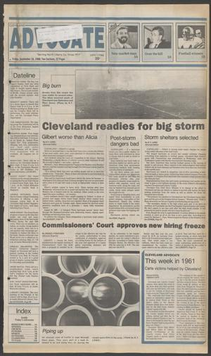 Primary view of object titled 'Cleveland Advocate (Cleveland, Tex.), Vol. 69, No. 37, Ed. 1 Friday, September 16, 1988'.