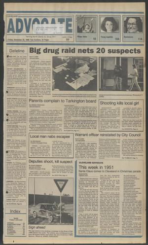 Primary view of object titled 'Cleveland Advocate (Cleveland, Tex.), Vol. 69, No. 47, Ed. 1 Friday, November 25, 1988'.