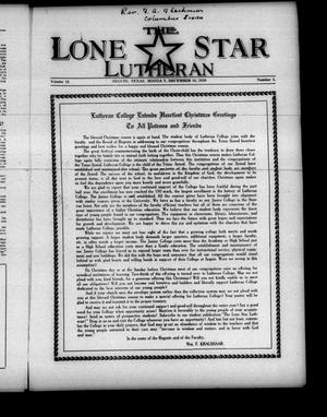 Primary view of object titled 'The Lone Star Lutheran (Seguin, Tex.), Vol. 12, No. 5, Ed. 1 Monday, December 16, 1929'.