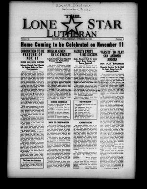 Primary view of object titled 'The Lone Star Lutheran (Seguin, Tex.), Vol. 12, No. 1, Ed. 1 Monday, October 28, 1929'.
