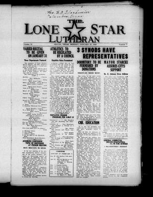 Primary view of object titled 'The Lone Star Lutheran (Seguin, Tex.), Vol. 12, No. 7, Ed. 1 Monday, January 27, 1930'.