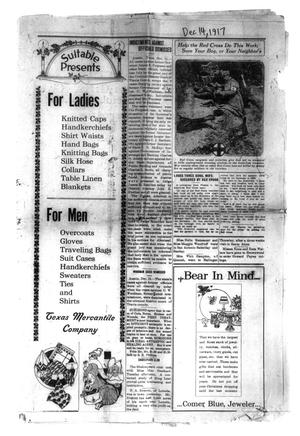 Primary view of object titled 'Santa Anna News (Santa Anna, Tex.), Vol. [31], Ed. 1 Friday, December 14, 1917'.