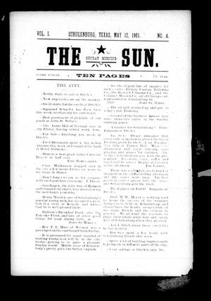 Primary view of object titled 'The Sunday Morning Sun. (Schulenburg, Tex.), Vol. 1, No. 4, Ed. 1 Sunday, May 12, 1901'.