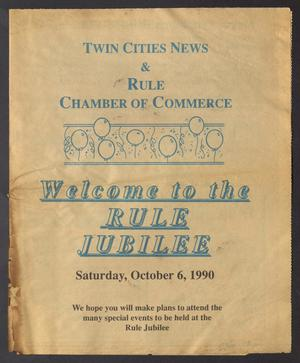 Primary view of object titled 'Twin Cities News (Rochester, Tex.), Ed. 1 Saturday, October 6, 1990'.