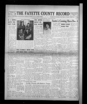Primary view of object titled 'The Fayette County Record (La Grange, Tex.), Vol. 39, No. 8, Ed. 1 Tuesday, November 29, 1960'.