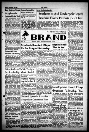 Primary view of object titled 'The Brand (Abilene, Tex.), Vol. 48, No. 11, Ed. 1, Friday, November 30, 1962'.