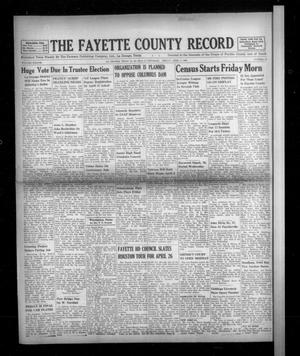 Primary view of object titled 'The Fayette County Record (La Grange, Tex.), Vol. 38, No. 44, Ed. 1 Friday, April 1, 1960'.