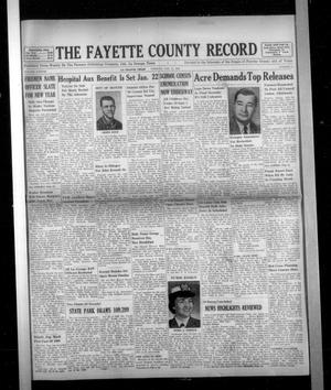 Primary view of object titled 'The Fayette County Record (La Grange, Tex.), Vol. 38, No. 21, Ed. 1 Tuesday, January 12, 1960'.