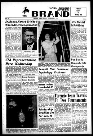 The Brand (Abilene, Tex.), Vol. 49, No. 13, Ed. 1, Friday, December 13, 1963