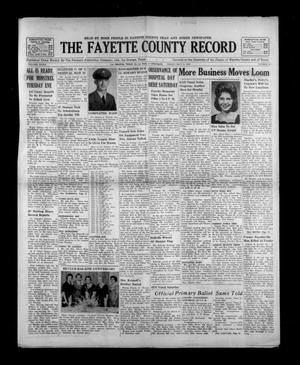 Primary view of object titled 'The Fayette County Record (La Grange, Tex.), Vol. 40, No. 55, Ed. 1 Friday, May 11, 1962'.