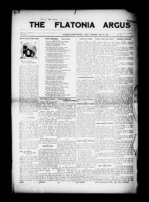 Primary view of object titled 'The Flatonia Argus. (Flatonia, Tex.), Vol. 55, No. 52, Ed. 1 Thursday, December 26, 1929'.