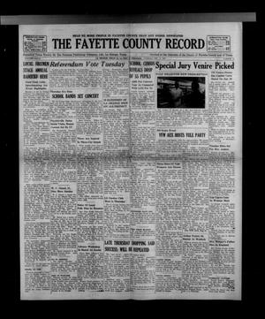 Primary view of object titled 'The Fayette County Record (La Grange, Tex.), Vol. 41, No. 12, Ed. 1 Tuesday, December 11, 1962'.