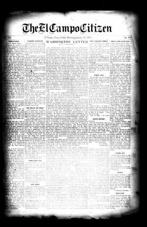 Primary view of The El Campo Citizen (El Campo, Tex.), Vol. 16, No. 49, Ed. 1 Friday, January 19, 1917