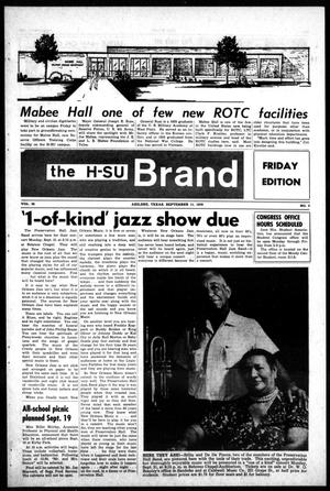 The H-SU Brand (Abilene, Tex.), Vol. 56, No. 3, Ed. 1, Friday, September 11, 1970