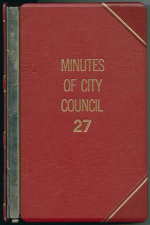 Primary view of object titled '[Abilene City Council Minutes: 1986]'.