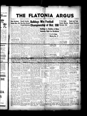 Primary view of object titled 'The Flatonia Argus. (Flatonia, Tex.), Vol. 81, No. 47, Ed. 1 Thursday, November 22, 1956'.