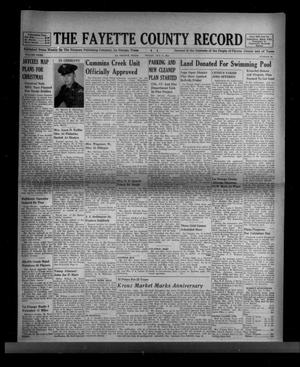 Primary view of object titled 'The Fayette County Record (La Grange, Tex.), Vol. 32, No. 98, Ed. 1 Friday, October 8, 1954'.