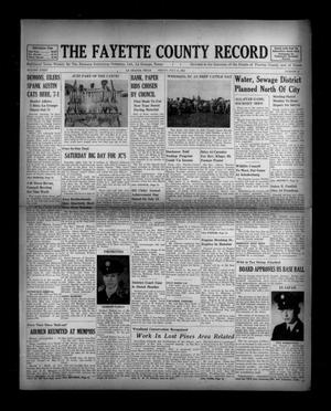 Primary view of object titled 'The Fayette County Record (La Grange, Tex.), Vol. 36, No. 73, Ed. 1 Friday, July 11, 1958'.