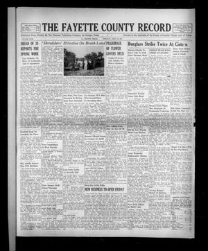 Primary view of object titled 'The Fayette County Record (La Grange, Tex.), Vol. 31, No. 51, Ed. 1 Tuesday, April 28, 1953'.