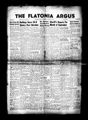 Primary view of object titled 'The Flatonia Argus. (Flatonia, Tex.), Vol. 81, No. 40, Ed. 1 Thursday, October 4, 1956'.