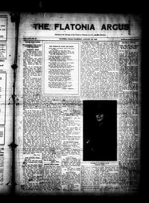 Primary view of object titled 'The Flatonia Argus (Flatonia, Tex.), Vol. 44, No. 13, Ed. 1 Thursday, January 29, 1920'.