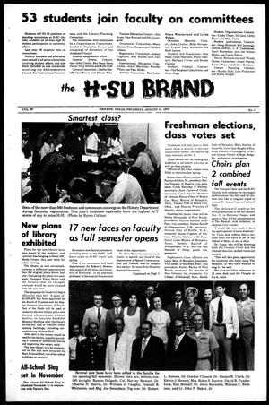 Primary view of object titled 'The H-SU Brand (Abilene, Tex.), Vol. 58, No. 1, Ed. 1, Thursday, August 31, 1972'.