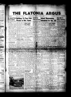 Primary view of object titled 'The Flatonia Argus. (Flatonia, Tex.), Vol. 81, No. 42, Ed. 1 Thursday, October 18, 1956'.