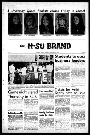 Primary view of object titled 'The H-SU Brand (Abilene, Tex.), Vol. 58, No. 12, Ed. 1, Tuesday, October 17, 1972'.