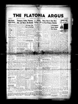 Primary view of object titled 'The Flatonia Argus. (Flatonia, Tex.), Vol. 81, No. 31, Ed. 1 Thursday, August 2, 1956'.