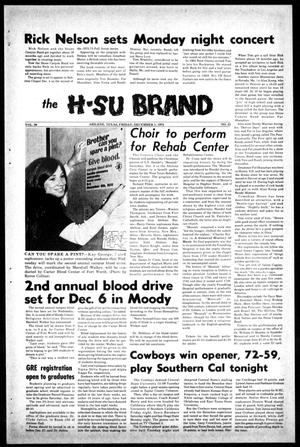 Primary view of object titled 'The H-SU Brand (Abilene, Tex.), Vol. 58, No. 21, Ed. 1, Friday, December 1, 1972'.