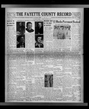 Primary view of The Fayette County Record (La Grange, Tex.), Vol. 31, No. 100, Ed. 1 Friday, October 16, 1953
