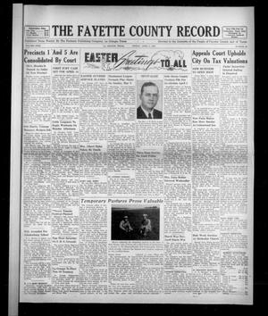 Primary view of object titled 'The Fayette County Record (La Grange, Tex.), Vol. 31, No. 44, Ed. 1 Friday, April 3, 1953'.