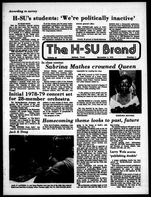 Primary view of object titled 'The H-SU Brand (Abilene, Tex.), Vol. 66, No. 9, Ed. 1, Friday, November 3, 1978'.