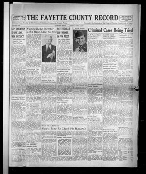 Primary view of object titled 'The Fayette County Record (La Grange, Tex.), Vol. 31, No. 49, Ed. 1 Tuesday, April 21, 1953'.