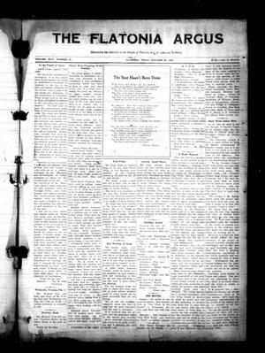 Primary view of The Flatonia Argus (Flatonia, Tex.), Vol. 46, No. 13, Ed. 1 Thursday, January 26, 1922