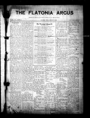 Primary view of The Flatonia Argus (Flatonia, Tex.), Vol. 46, No. 11, Ed. 1 Thursday, January 12, 1922