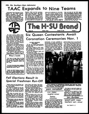 Primary view of object titled 'The H-SU Brand (Abilene, Tex.), Vol. 67, No. 7, Ed. 1, Friday, October 19, 1979'.