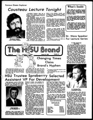 Primary view of object titled 'The HSU Brand (Abilene, Tex.), Vol. 67, No. 15, Ed. 1, Friday, January 25, 1980'.