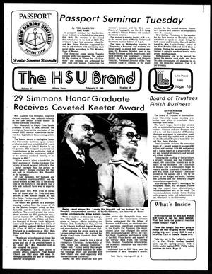 Primary view of object titled 'The HSU Brand (Abilene, Tex.), Vol. 67, No. 18, Ed. 1, Friday, February 15, 1980'.