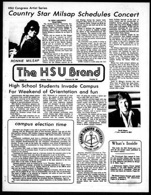 Primary view of object titled 'The HSU Brand (Abilene, Tex.), Vol. 67, No. 20, Ed. 1, Friday, February 29, 1980'.