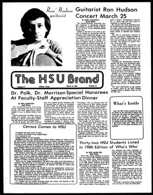 The HSU Brand (Abilene, Tex.), Vol. 67, No. 21, Ed. 1, Friday, March 14, 1980