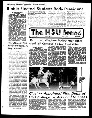 Primary view of object titled 'The HSU Brand (Abilene, Tex.), Vol. 67, No. 23, Ed. 1, Friday, April 11, 1980'.